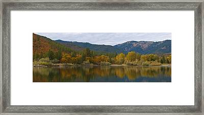 Autumn Panorama Framed Print by Loree Johnson