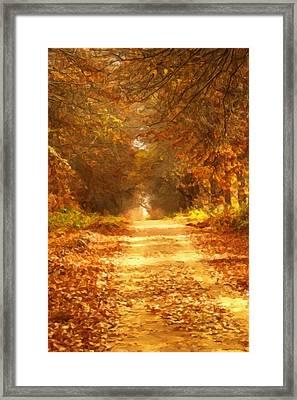 Autumn Paradisium Framed Print by Georgiana Romanovna