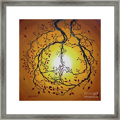 Autumn Peace Framed Print by Laura Iverson