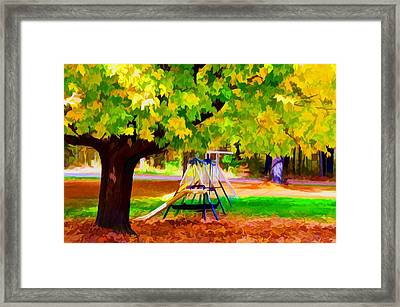 Autumn Playground 1 Framed Print by Lanjee Chee