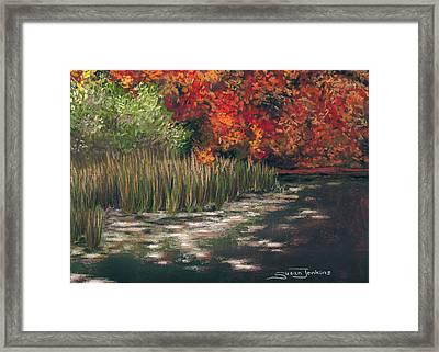 Autumn Pond Framed Print by Susan Jenkins