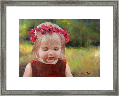 Autumn Princess Framed Print by Anna Rose Bain
