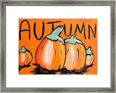 Autumn Pumpkins Framed Print by Jera Sky