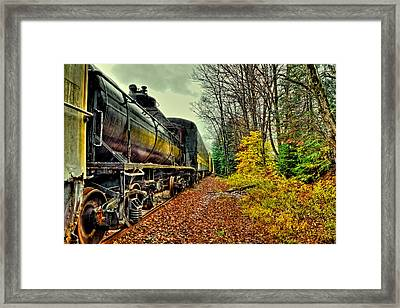 Autumn Railway Framed Print by David Patterson