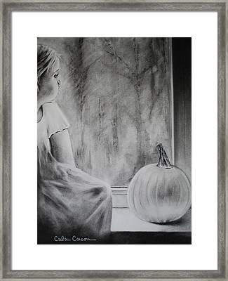 Autumn Rain Framed Print by Carla Carson