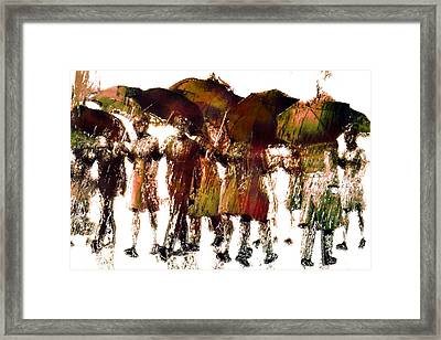 Autumn Rain Framed Print by Carol and Mike Werner