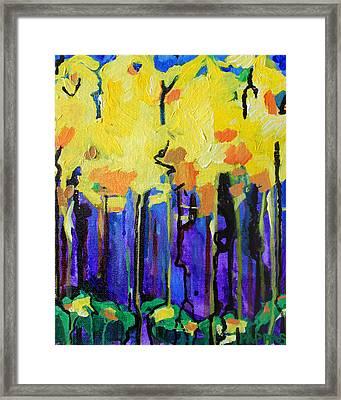 Autumn Rain Framed Print by Julia Pappas