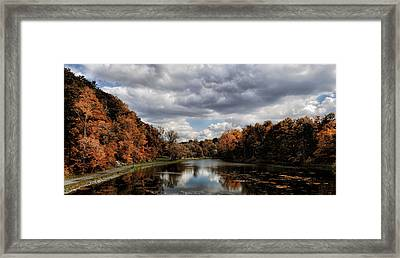 Autumn Reflection  Framed Print by Peter Chilelli