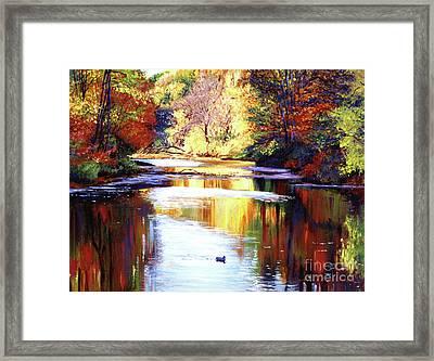 Autumn Reflections Framed Print by David Lloyd Glover