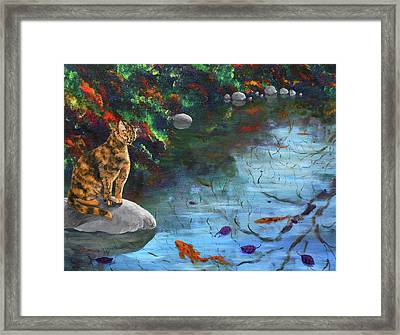 Autumn Reflections Framed Print by Laura Iverson