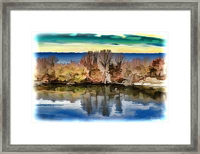 Autumn Reflections Framed Print by Lilia D