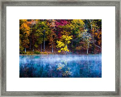 Autumn Reflections On The Lake Framed Print by Parker Cunningham