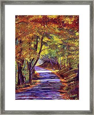 Autumn Road Framed Print by David Lloyd Glover