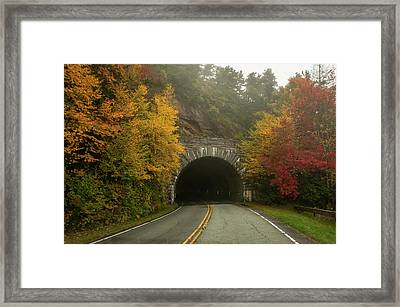 Autumn Rough Ridge Tunnel North Carolina Framed Print by Terry DeLuco