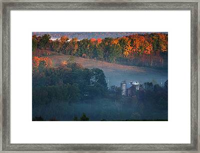 Autumn Scenic - West Rupert Vermont Framed Print by Thomas Schoeller