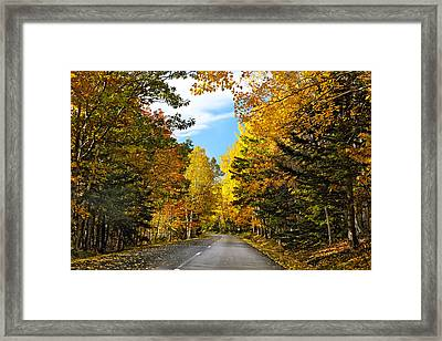 Autumn Scenic Drive Framed Print by George Oze
