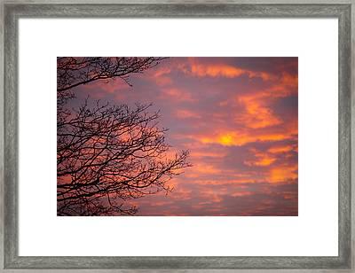 Autumn Sky Framed Print by Konstantin Dikovsky