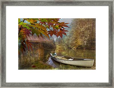 Autumn Souvenirs Framed Print by Debra and Dave Vanderlaan