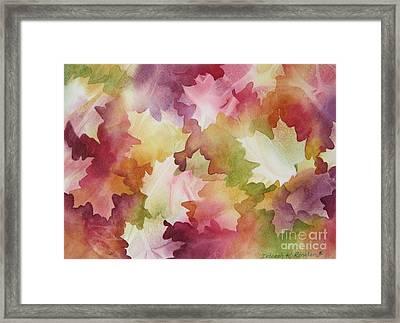 Autumn Splendor Framed Print by Deborah Ronglien