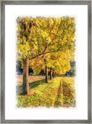 Autumn Splendor Watercolor Framed Print by Edward Fielding