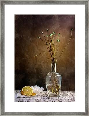 Autumn Still Life Framed Print by Nailia Schwarz
