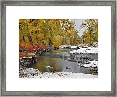 Autumn Stillness Framed Print by Leland D Howard