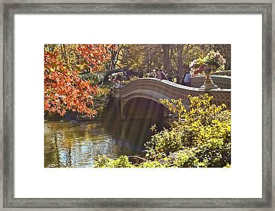 Autumn Sun Rays Framed Print by Allan Einhorn