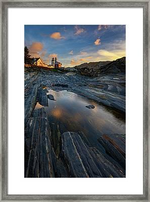 Autumn Sunrise At Pemaquid Point Framed Print by Rick Berk