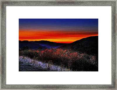 Autumn Sunrise Framed Print by William Carroll