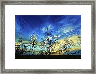 Autumn Sunset Framed Print by ABeautifulSky Photography