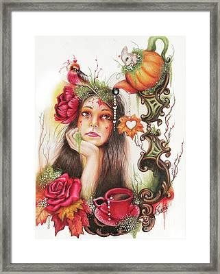 Autumn Tea  Framed Print by Sheena Pike