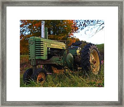 Autumn Tractor Reading Vt Vermont Framed Print by Toby McGuire