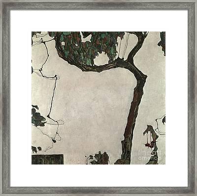 Autumn Tree Framed Print by Egon Schiele