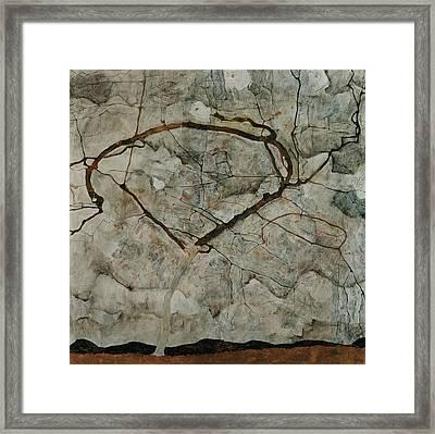 Autumn Tree In Stirred Air Framed Print by Egon Schiele
