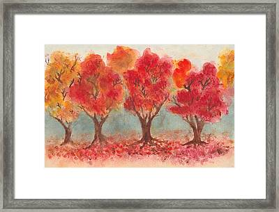 Autumn Trees Framed Print by Jennie Hallbrown