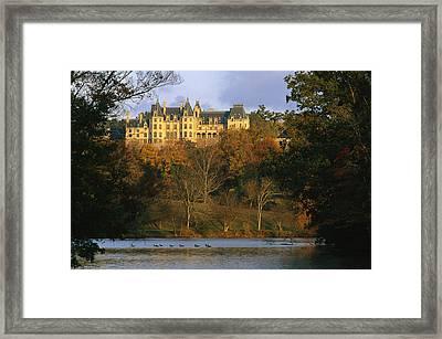 Autumn View Of The Biltmore Framed Print by Melissa Farlow