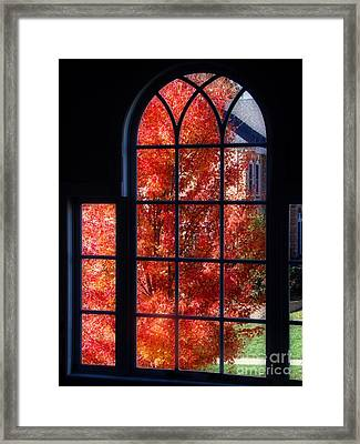 Autumn View Thru A Picture Window Framed Print by Sue Melvin