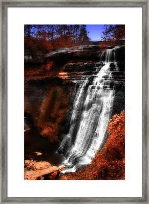 Autumn Waterfall 3 Framed Print by Kenneth Krolikowski
