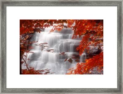 Autumn Waterfall I Framed Print by Kenneth Krolikowski