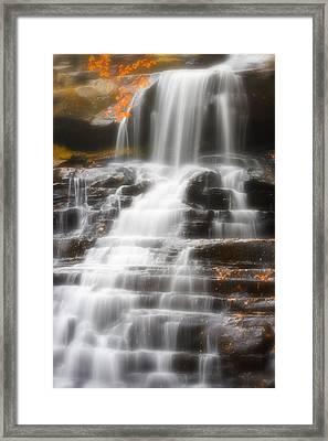 Autumn Waterfall II Framed Print by Kenneth Krolikowski