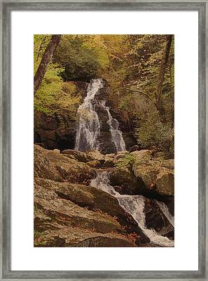 Autumn Waterfall In The Great Smoky Mountains Framed Print by Dan Sproul