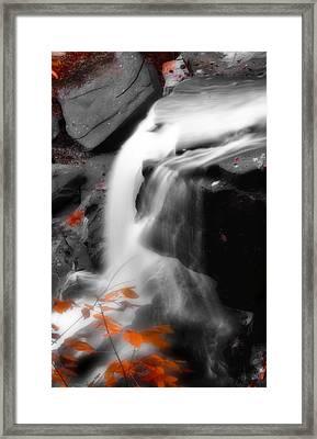 Autumn Waterfall Iv Framed Print by Kenneth Krolikowski
