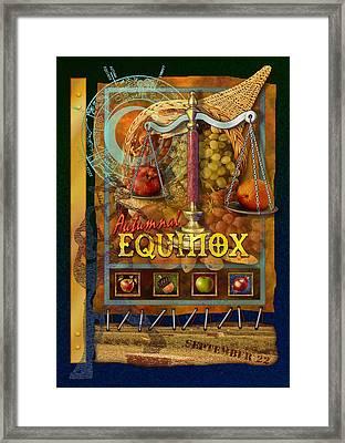 Autumnal Equinox Framed Print by Ernestine Grindal