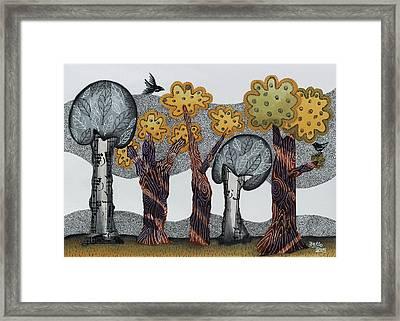 Autumnal Grove  Framed Print by Graciela Bello
