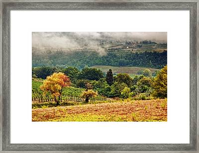 Autumnal Hills Framed Print by Silvia Ganora