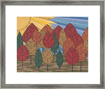 Autumn's Glow Framed Print by Pamela Schiermeyer