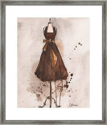 Autumn's Gold Vintage Dress Framed Print by Lauren Maurer