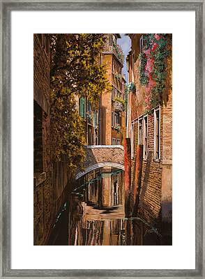 autunno a Venezia Framed Print by Guido Borelli