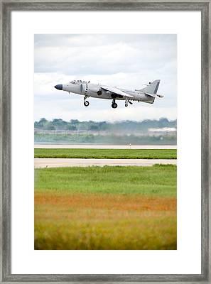 Av-8 Harrier Framed Print by Sebastian Musial