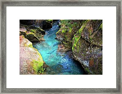 Avalanche Lake 4a Framed Print by Marty Koch
